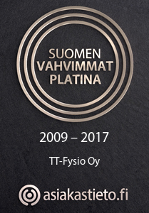 Suomen vahvimmat platina 2009–2017 TT-Fysio